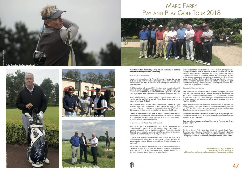 Pure Golf Paris • Marc Farry Pay & Play Golf Tour 2018